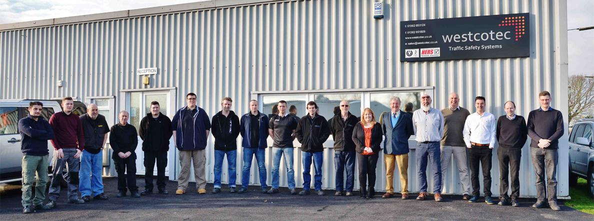 Westcotec Full Team Photo - Outside Their Norfolk Premises