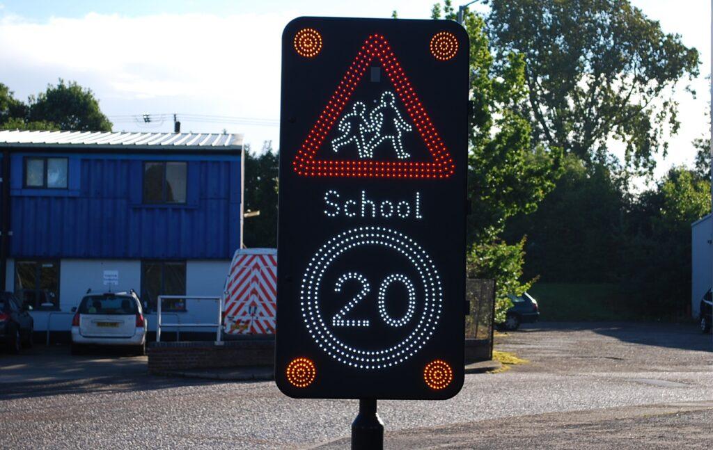 School Warning LED Speed Sign