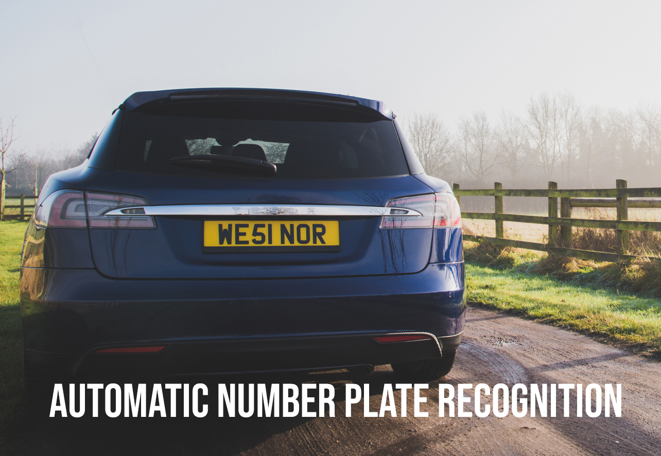 ANPR sign - AUTOMATIC NUMBER PLATE RECOGNITION