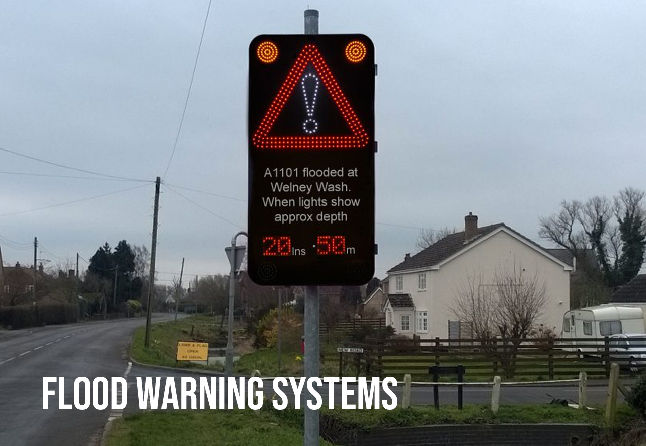 flood warning system sign