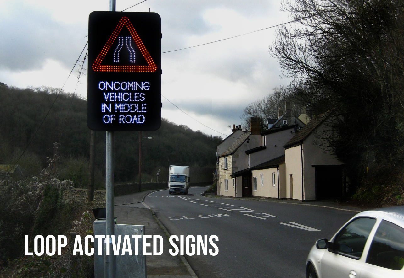 loop activated signs