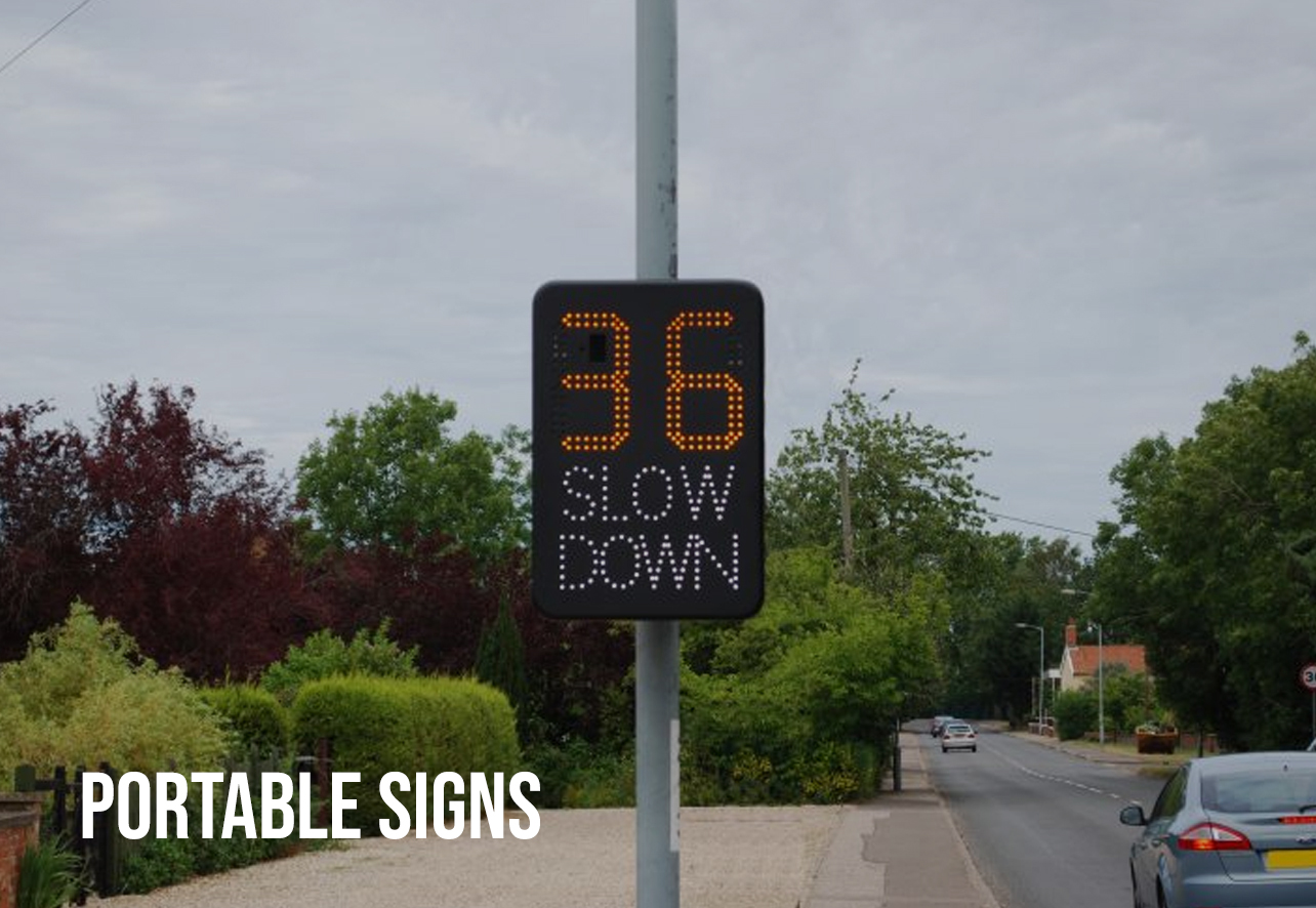 portable speed signs