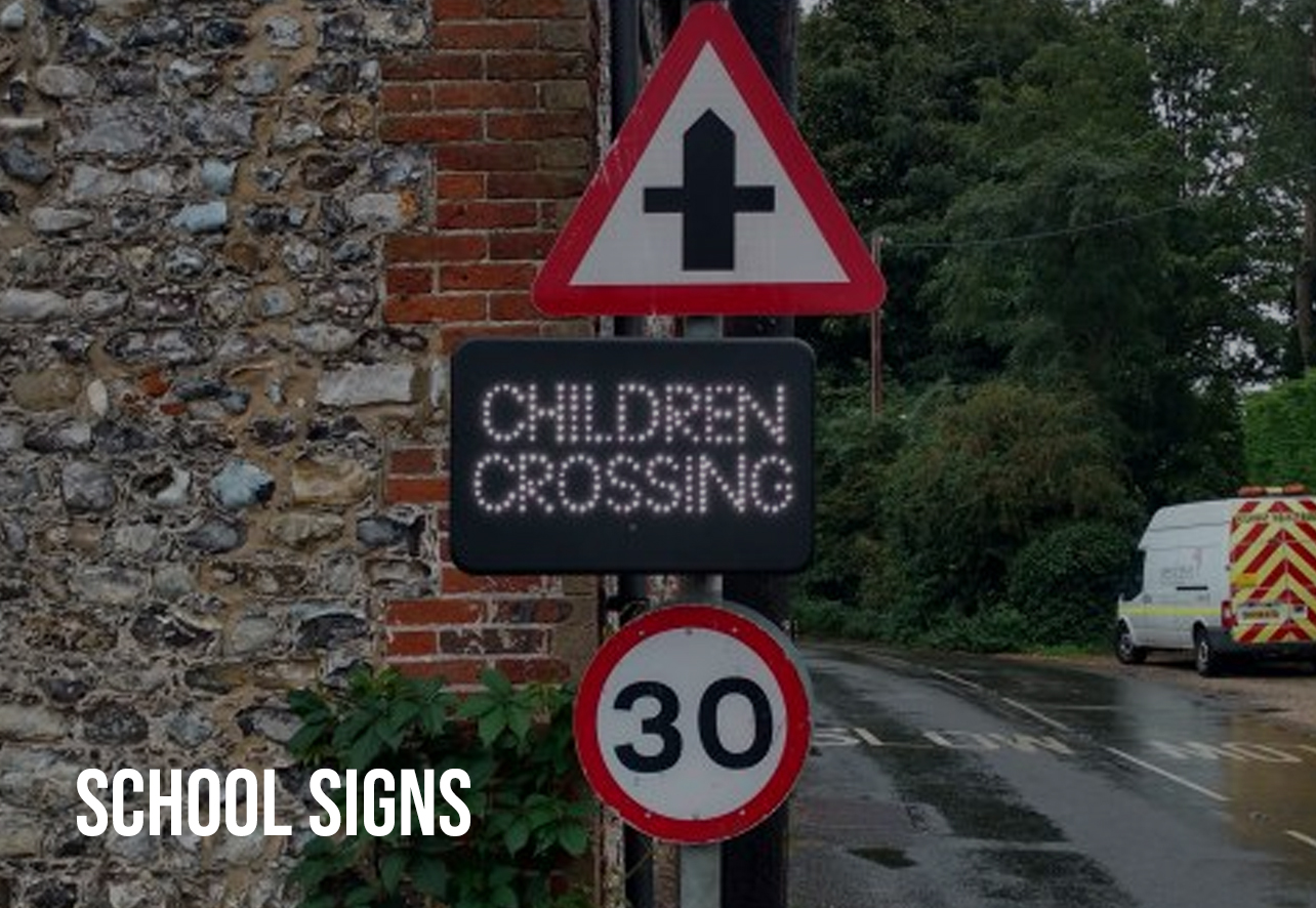school warning road signs